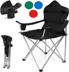 Somultishop Strandstoel opvouwbaar - Camping stoel - Zwart