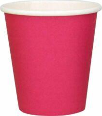 DispoDeals 20x 50 Fuchsia papieren feest bekertjes 180ml - Wegwerpbekertjes 180ml Fuchsia (1000 stuks)