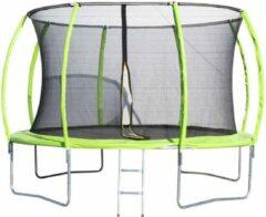 Groene Famijump Trampoline Premium rond diam. 305 cm (incl. net & ladder)