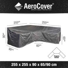Platinum AeroCover loungsethoes L-vorm Trapeze 255x255x90xH65/90 HB cm antraciet