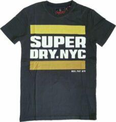 Superdry stevig zacht slim fit t-shirt washed black - valt 1 maat kleiner - Maat L