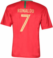 Rode Holland Portugal Voetbalshirt Ronaldo Thuis 2020-2021 Kids - Senior-104