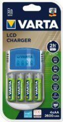Varta LCD-Lader Batterijlader Incl. oplaadbare batterijen NiMH AAA (potlood), AA (penlite)