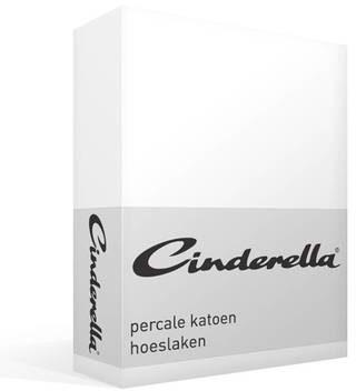Afbeelding van Cinderella Basic percaline katoen hoeslaken - 100% percaline katoen - 1-persoons (90x220 cm) - Wit