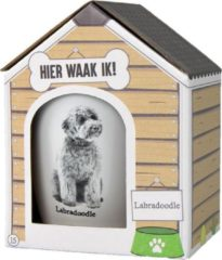 Witte Paper dreams Mok – Labradoodle – Dier – Puppy – Hond – Dieren – Mokken en bekers – Keramiek – Mokken - Porselein - Honden – Cadeau - Kado