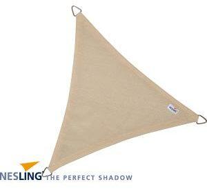 Afbeelding van Creme witte Schaduwdoek NESLING Dreamsail (Waterproof), 4 x 4 x 4 m. Driehoek, Kleur: Cream