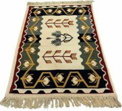 Sunar Home Kelim Vloerkleed Ufuk - Kelim kleed - Kelim tapijt - Oosterse Vloerkleed - 60x90 cm - Loper - Bankkleed - Plaid - Met kleine cadeau
