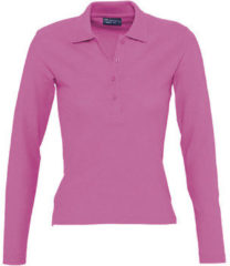 Roze Polo Shirt Lange Mouw Sols PODIUM COLORS