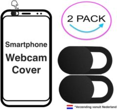 Zwarte IMora 2x Webcam Cover | iPhone S8 & S8 Plus | Camera Privacy Bescherming | 2 Pack Zwart