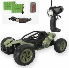 Groene Off road Bestuurbare auto + EXTRA ACCU - Stoer auto speelgoed voor jongens - Stevige RC auto afstandbestuurbaar op 2,4Ghz - Schaal 1:14 - 31x18.5x11cm