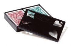 Dal Negro speelkaarten Ramino Floreale karton rood/blauw 2-delig