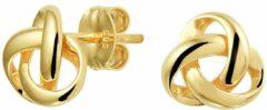 Goudkleurige Huiscollectie Oorknoppen Knoop Geelgoud Glanzend 7 mm x 7 mm