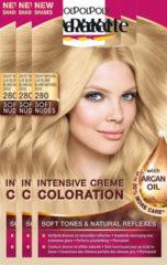 Naturelkleurige Schwarzkopf Poly Palette 280 Zacht Natuurlijk Blond Haarverf - 3 stuks - intensieve, natuurlijke kleuren met 100% grijsdekking