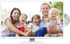 Lenco DVL-3252WH LED Fernseher (32 Zoll   Full HD   mit intigriertem DVD-Player   A) Lenco weiß