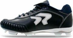Ringor Dynasty Softbalschoenen met Kunststof Spikes en Pitching Toe (PTT) - Donkerblauw - US 8