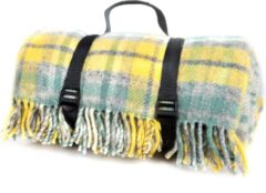 Tweedmill Picknickkleed wol, geel, Engelse ruiten