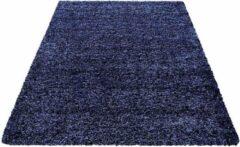 Decor24-AY Hoogpolig vloerkleed Life - marineblauw - 60x110 cm