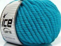 Ice yarns Dikke wolgaren breien met breinaalden maat 10 – 12 mm. – blauwe breiwol kopen pakket van 3 bollen garen 100 gram per bol 100% wol – breigaren van een fijne kwaliteit