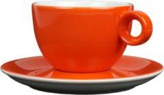 Cappuccinokopje met schotel - 200ml - Mosterdman - Oranje