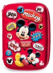 Disney Etui Mickey Mouse Junior 14 X 21 Cm Polyester/eva Rood