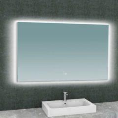 Douche Concurrent Badkamerspiegel Wiesbaden Soulspiegel Rechthoek 120x80cm Geintegreerde LED Verlichting Verwarming Anti Condens Lichtschakelaar Dimbaar