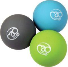 Blauwe Fitness-Mad massageballen Trigger Point 6 cm PVC 3 stuks