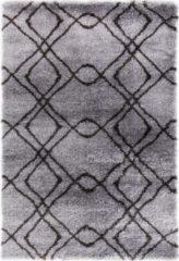 Impression Rugs Pearl Vloerkleed Grijs / Antraciet Hoogpolig - 80x150 CM
