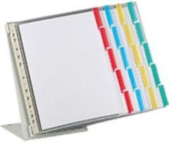 Merkloos / Sans marque FUNCTION tafelstandaard, 20 lijsten, grijs, metaal, A4