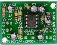 Velleman Whadda Voorversterker Bouwpakket 10 V/DC, 12 V/DC, 24 V/DC, 30 V/DC