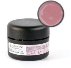 Roze Veronica Nail Products Veronica NAIL-PRODUCTS UV / LED BUILDER gel Cover Deep Pinque, 15 ml. Camouflage, make-up gel tegen verkleuringen, oneffenheden en beschadigingen van nagelbed.