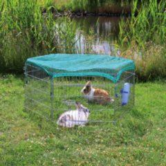 Zilveren Trixie Knaagdierpark Met Afdeknet 6 Panelen Verzinkt - Ren - 60 cm x 63 cm - Zilverkleurig