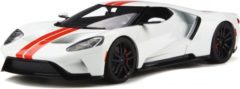 Rode Ford GT 2017 Wit / Rood 1-18 GT Spirit Limited 1500 Pieces