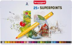 Viltstift Bruynzeel Expression super points blik à 25 stuks assorti