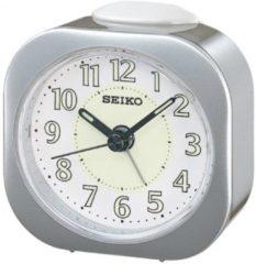 Zilveren Seiko wekker met electronisch piep alarm - grijze kunststof kast - QHE121S