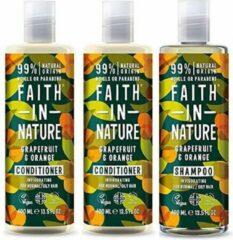 Faith in nature grapefruit en orange shampoo en 2 conditioner