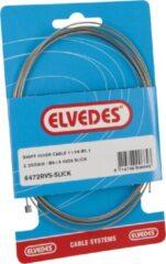 Zilveren Schakel binnenkabel Elvedes 2250mm RVS slick ø1,1mm Shimano / Sram N-nippel (op kaart)