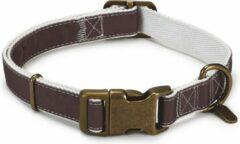 Designed by Lotte DBL - Nylon halsband Virante, bruin 48-70 x 25 cm