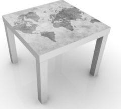 PPS. Imaging Beistelltisch - Vintage Weltkarte II - Tisch Grau