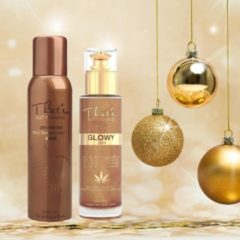 That'so on the go dark & Glow gold. Holiday gift set