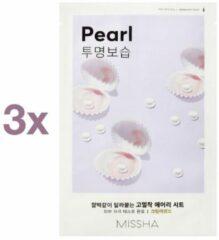 3 x Missha Pearl Airy Fit Face Sheet Mask - Korean Skincare - K-Beauty - Parel Zachte Huid - Super Soft Skin