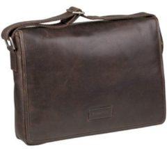 Bruine Laptoptas Dbramante1928 Marselisborg Messenger Hunter Dark 14 inch