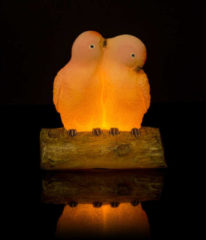 "Rosa Flambiance LED-Vogelpaar ""Jack & Jacky"""