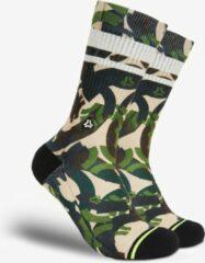Beige FLINCK Sportsokken - Army Camo Crossfit Hardloop Sokken 44-46