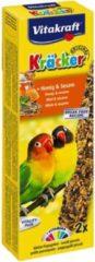 Vitakraft Agaporniskracker African Honing Vogelsnack - 2 Stuks