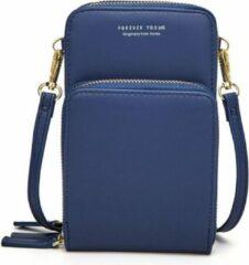 Merkloos / Sans marque Compact Telefoontasje – 3 Compartimenten – Donkerblauw – Ideaal Voor op Een Feestje