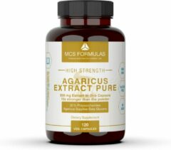 MCS Formulas Agaricus Extract, 350mg / Capsule - 30% Polysaccharides - 10x stronger than the typical Agaricus powder