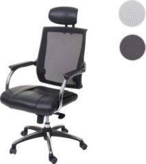 Heute-wohnen Bürostuhl HWC-A52, Schreibtischstuhl, Kopfstütze Kunstleder/Stoff/Textil ISO9001