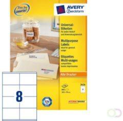 Etiket Avery Zweckform 3426 105x70mm wit 800stuks
