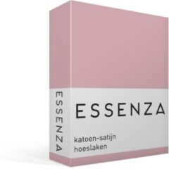 Paarse Essenza Hoeslaken Satijn Lila-1-persoons (80x200 Cm)