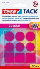 9x Tesa Tack roze dubbelzijdige kleefpads - Dubbelzijdige plakkers - Kleefpads fuchsia roze voor o.a. foto's, tekeningen en kaarten